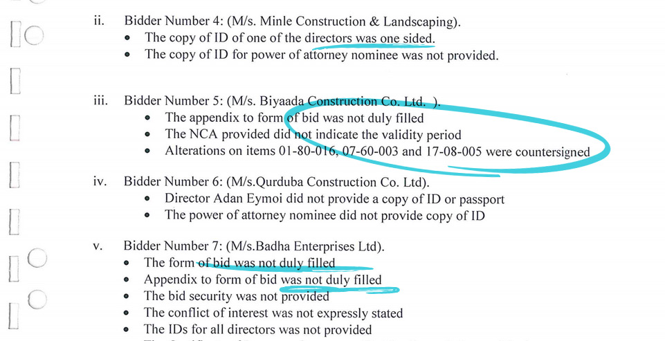 expired tender documents
